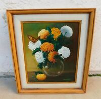 Laurie Ellen Werner Chrysanthemum Mums Oil Painting California Listed Artist