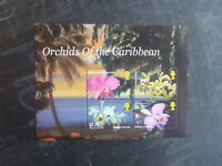 2005 MONSERRAT ORCHIDS OF THE CARIBBEAN 4 STAMP MINI SHEET MNH