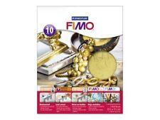 10 feuilles métal or FIMO