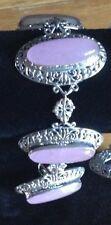 Bracelet - Bali Legacy Pink Jade Sterling Silver Bracelet