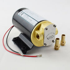 Black 12V Electric Oil Pump  Diff Cooler Turbo Scavenge Conversion Gear Pump New