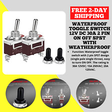 Daiertek Waterproof Toggle Switch 12v Dc 30a 2 Pin On Off Spst With Weatherproof