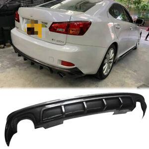 Rear Diffuser For 2006-2012 Lexus IS250 IS350 4DR Bumper Lip Carbon Fiber Style