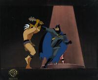 Batman Animated Series Original Production Cel Batman+Shaman-The Worry Men