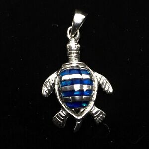 Turtle with Paua Shell Pendant - Peter Stone -Sterling Silver Pendant Only