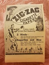 Zig-Zag Cigarette Papers  - Football -1938 Advertisement