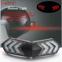 Universal Helmet Flashing LED Light Night Riding Smart Safety Brake Turn Signl