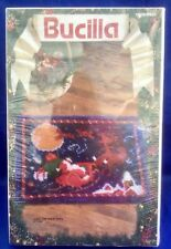 New listing Nos '93 Bucilla 13800 Over The Roof Tops Latch Hook Rug Kit Santa 27X20 Rare Htf