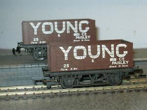 2 Trix OO Gauge Young 10 Ton Wagons