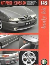 ALFA ROMEO BODY KIT AND INTERIOR KIT  'BROCHURE' SHEET 1997