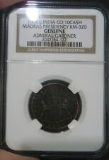 NGC Genuine 1808 East India Co 10 Cash Admiral Gardner Shipwreck Coin