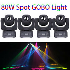 4PCS 80W RGBW Gobos SPOT Stage Light LED Moving Head DMX-512 DJ Disco Lighting