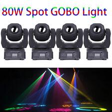 4PCS 80W RGBW Beam LED Moving Head Stage Light DMX-512 DJ Disco Gobos Lighting