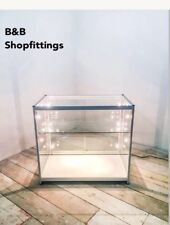 GLASS SHOWCASE SHOP DISPLAY COUNTER CABINET SPOTLIGHTS & PLUG FULLY ASSEMBLED!!