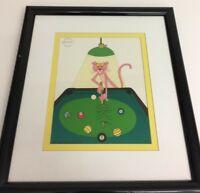 Pink Panther Pink 8 Ball Ltd Edition Serigraph Cel Framed