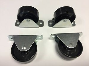 Pack of 4pcs -  45mm Small Fixed castors – ideal for storage boxes