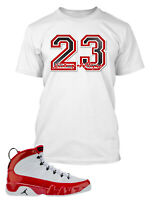 History of Flight T shirt To match Jordan 9 Gym Red Shoe Men's Tee Shirt Proclub