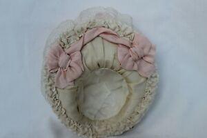 """Silk hat for antique baby doll 12""""."""