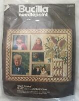 Bucilla Needlepoint Dried Flowers 12x15 Picture Frame Plastic Canvas Kit #4178