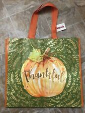 NEW TJ MAXX Shopping Bag THANKFUL Reusable Travel Tote Eco Friendly NWT