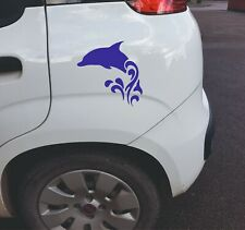 Dolphin jumping Vinyl Wall Car Sticker Decal in 8 Colours