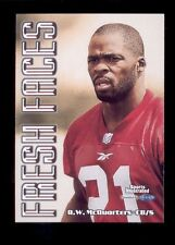 """1999 Sports Illustrated R. W. MCQUARTERS San Francisco 49ers """"Fresh Faces"""" Card"""