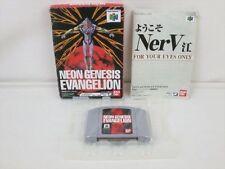 NEON GENESIS EVANGELION Nintendo 64 Japan Boxed Game bdc n6
