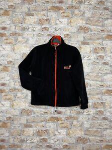 Vintage fleece Jack Wolfskin 90's women's black full zip sweater jacket #149