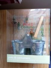 New Pots & Containers windowsill planter gift set & garden book & seed markers