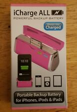 Triple C iCharge ALL iPhone iPad iPod Charger Battery Pack Fuchsia Pink