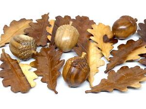 Beautiful Hand Carved Wooden Oak Leaf Leafs & Acorns.....MULTI LISTING.....