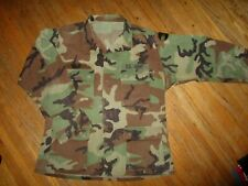 US ARMY CAMOUFLAGE JACKET SHIRT Official Military Issue 4 Pocket Woodland MEDIUM