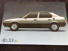 Alfa Romeo - Alfa 33 Car Brochure