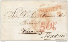 J) 1849 MEXICO, MEXICO CITY TO MADRID, 5 REALES POSTAGE DUE COLLECTED IN MADRID,