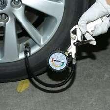 TYRE INFLATOR WITH GAUGE AIR LINE TYRE PUMP PRESSURE TESTER CAR VAN PROFESSIONAL