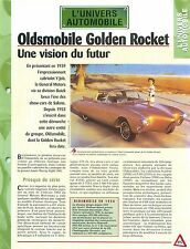 Oldsmobile Golden Rocket General Motors Motorama GM Car Auto FICHE FRANCE