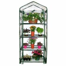 OnlineBull 4 Tier Mini Greenhouse PVC Plastic Outdoor Garden Steel Frame Grow