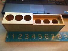 Wooden Microscope Box Shelf Objective 6 Holes Part Unitron Ao Leitz Zeiss 825