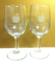 Armstrong Apples Orchard and winery 2 wine glass glasses glassware bar old OC7