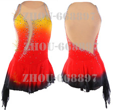 New Ice Figure Skating Dress Figure skaitng Dress For Competition orange dying