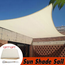 12' Square Sun Shade Sail Canopy Patio Awning Garden UV Block Top Shelter