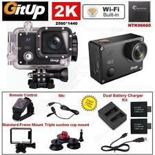 2K Wifi Gitup Git2 Pro Car Sports Action Camera+Control+Mic+Charger Battery Kits