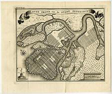 Antique Map-ST. PETERSBURG-RUSSIA-PLAN-Tirion-1750