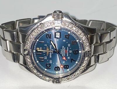 Breitling Men's Colt Gmt A32350 Automatic Diamond Watch