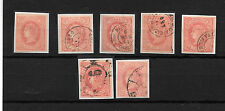 España. Conjunto de 7 sellos de cuatro cuartos Isabel II