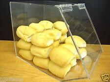 """Acrylic 12""""w Bulk Bread Storage Display case Bakery Pastry Cookies Bagel CUPCAKE"""