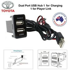 NEW Car 5V 2.1A USB Interface Socket Charger & Audio input Toyota Vigo