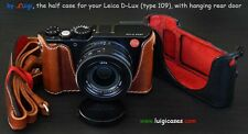 LUIGI's CASE LEICA D-LUX type 109,BUILT-IN-GRIP,REAR DOOR,PADDED STRAP,SHIPPING.