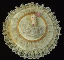 Vintage half doll seamstress wall decoration