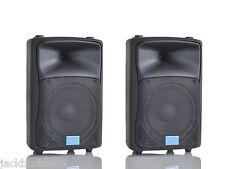 COPPIA CASSE AMPLIFICATE ATTIVE ACUSTICHE KARAOK 800W MONITOR PIANOBAR MPE AUDIO